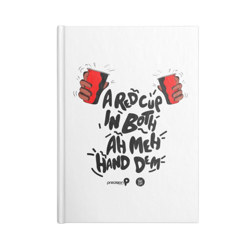 Red Cup Accessories Lined Journal Notebook by Precision Productions Artiste Shop