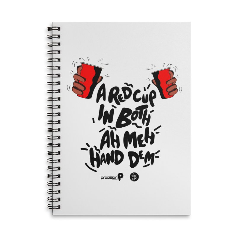 Red Cup Accessories Lined Spiral Notebook by Precision Productions Artiste Shop