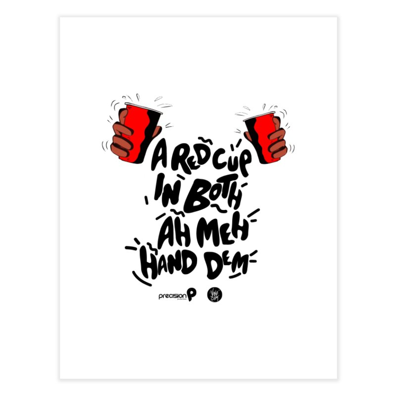 Red Cup Home Fine Art Print by Precision Productions Artiste Shop