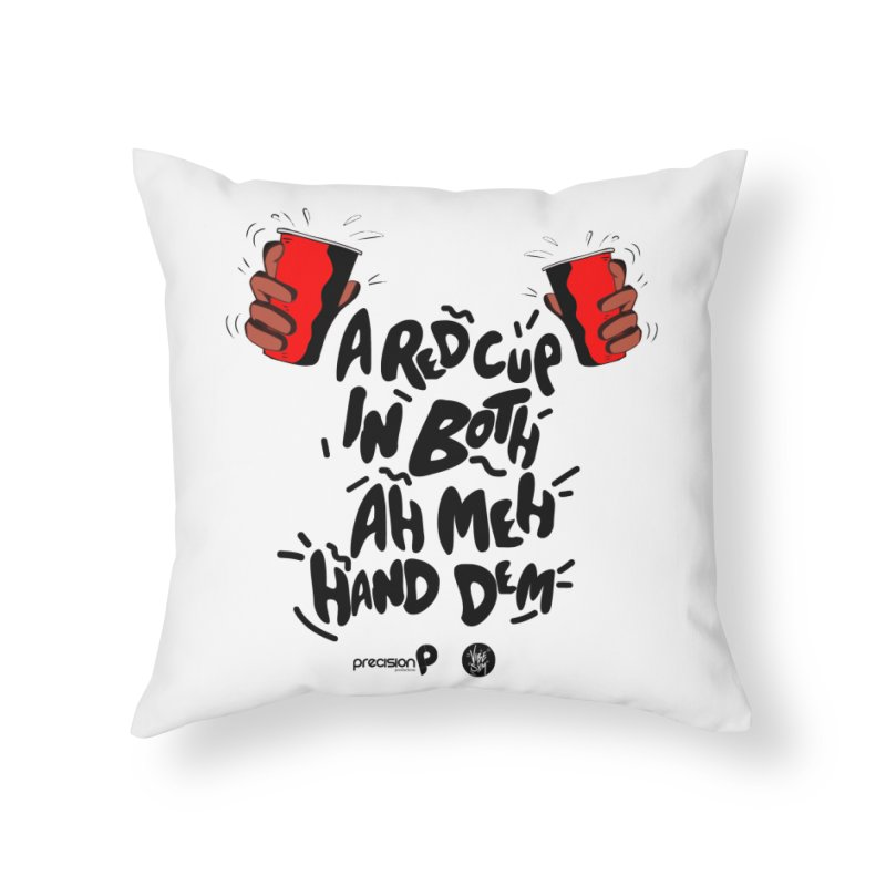 Red Cup Home Throw Pillow by Precision Productions Artiste Shop