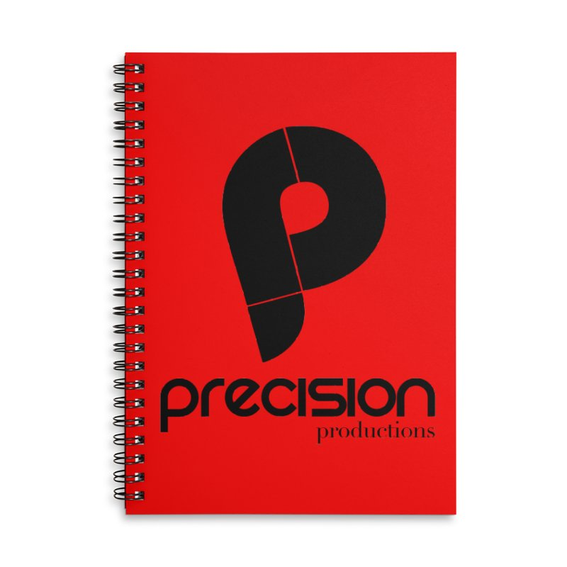 Precision Productions  Accessories Lined Spiral Notebook by Precision Productions Artiste Shop