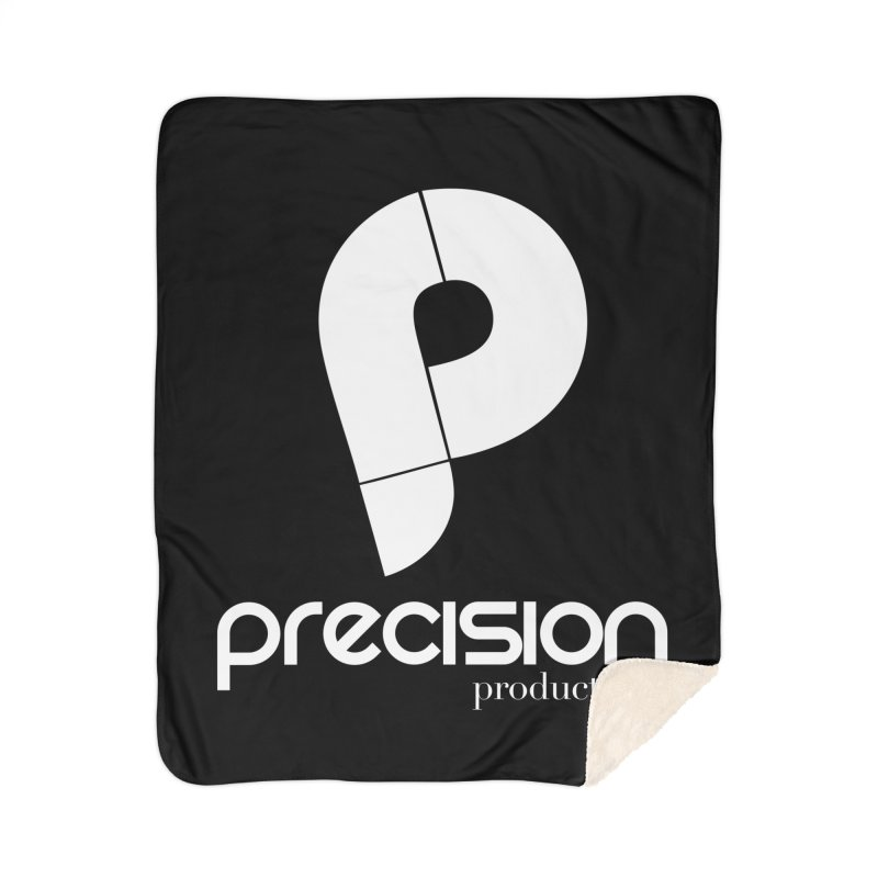 Precision P (white) Home Sherpa Blanket Blanket by Precision Productions Artiste Shop