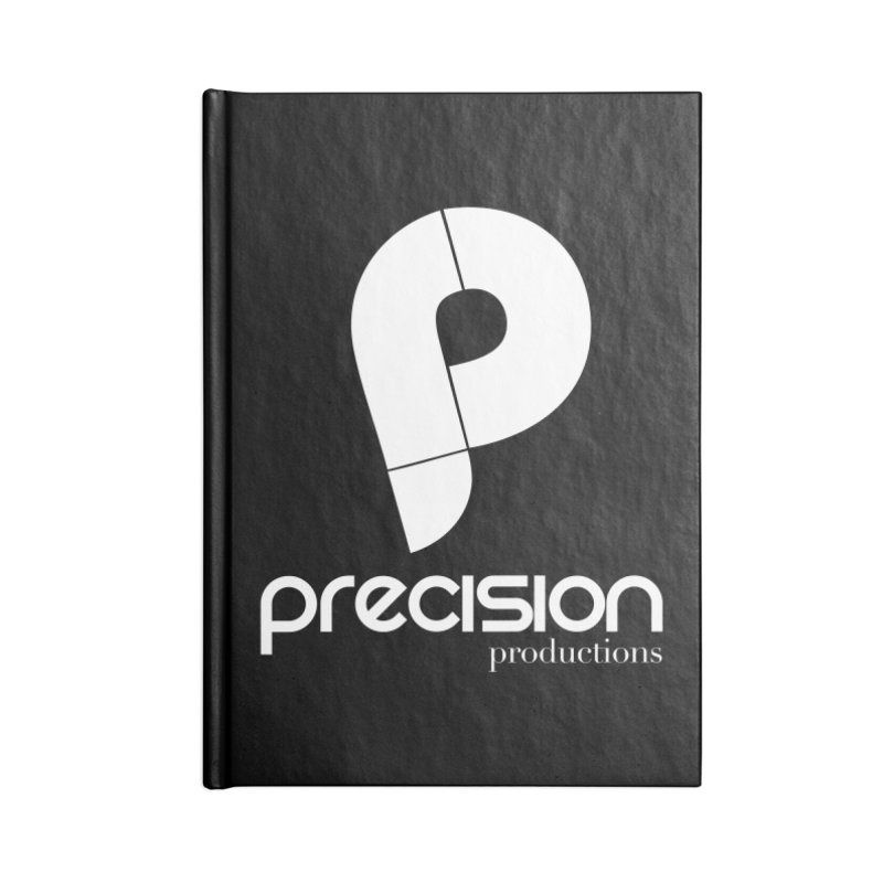 Precision P (white) Accessories Lined Journal Notebook by Precision Productions Artiste Shop