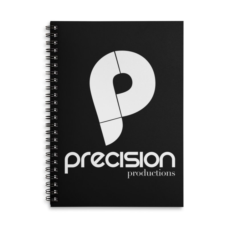 Precision P (white) Accessories Lined Spiral Notebook by Precision Productions Artiste Shop