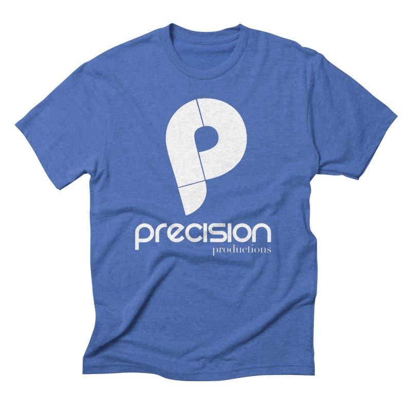 Precision P (white) Men's T-Shirt by Precision Productions Artiste Shop