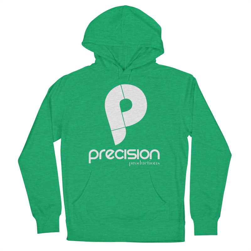 Precision P (white) Men's French Terry Pullover Hoody by Precision Productions Artiste Shop
