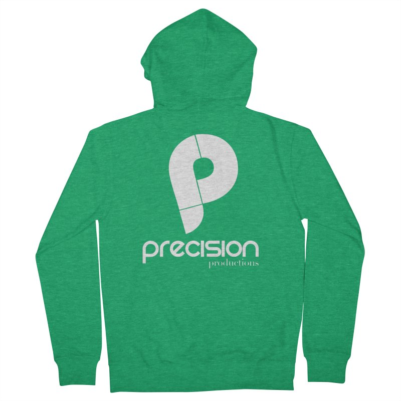 Precision P (white) Men's Zip-Up Hoody by Precision Productions Artiste Shop