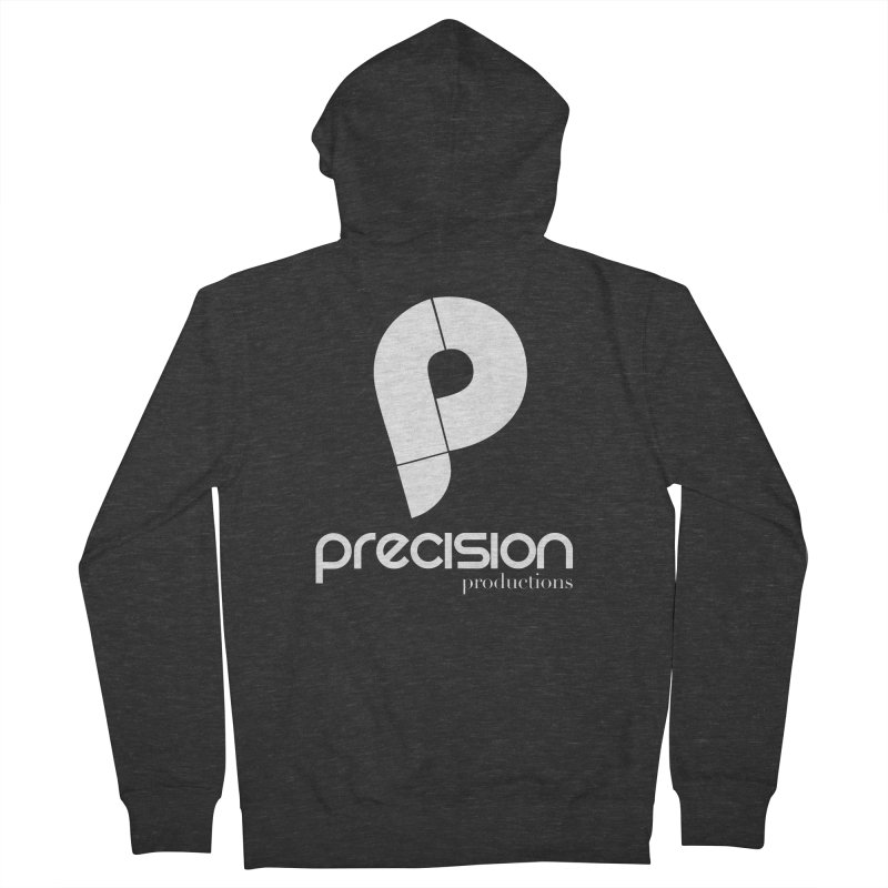 Precision P (white) Men's French Terry Zip-Up Hoody by Precision Productions Artiste Shop