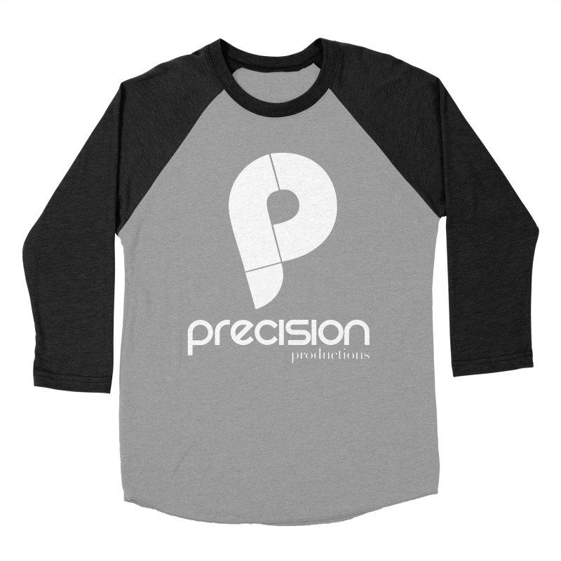 Precision P (white) Women's Baseball Triblend Longsleeve T-Shirt by Precision Productions Artiste Shop