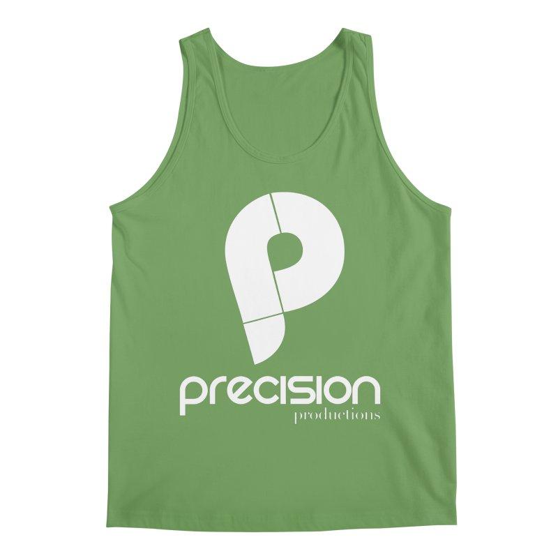Precision P (white) Men's Tank by Precision Productions Artiste Shop