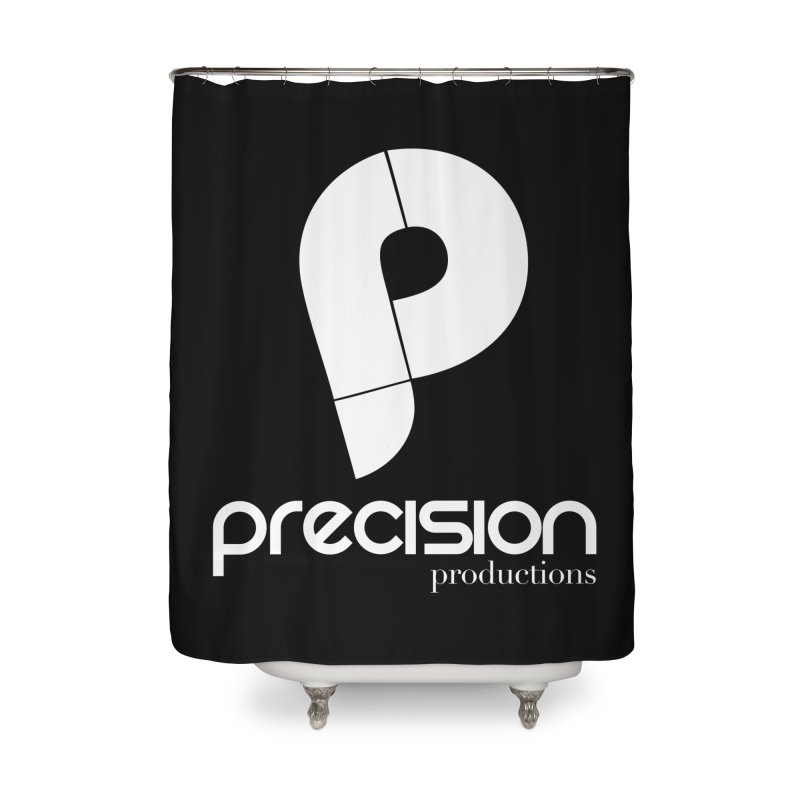 Precision P (white) Home Shower Curtain by Precision Productions Artiste Shop
