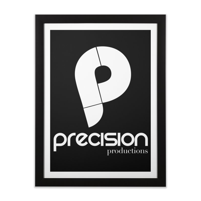 Precision P (white) Home Framed Fine Art Print by Precision Productions Artiste Shop