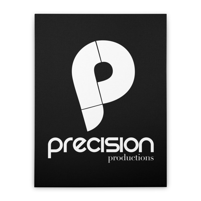 Precision P (white) Home Stretched Canvas by Precision Productions Artiste Shop