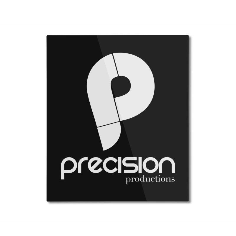 Precision P (white) Home Mounted Aluminum Print by Precision Productions Artiste Shop