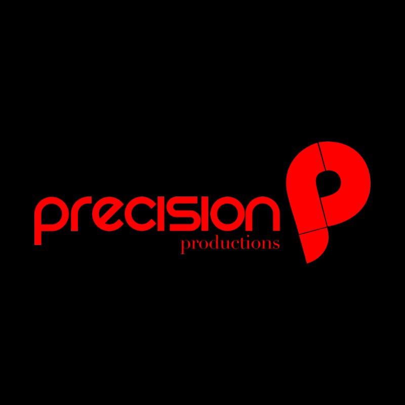 Precision Logo (Red) Home Stretched Canvas by Precision Productions Artiste Shop