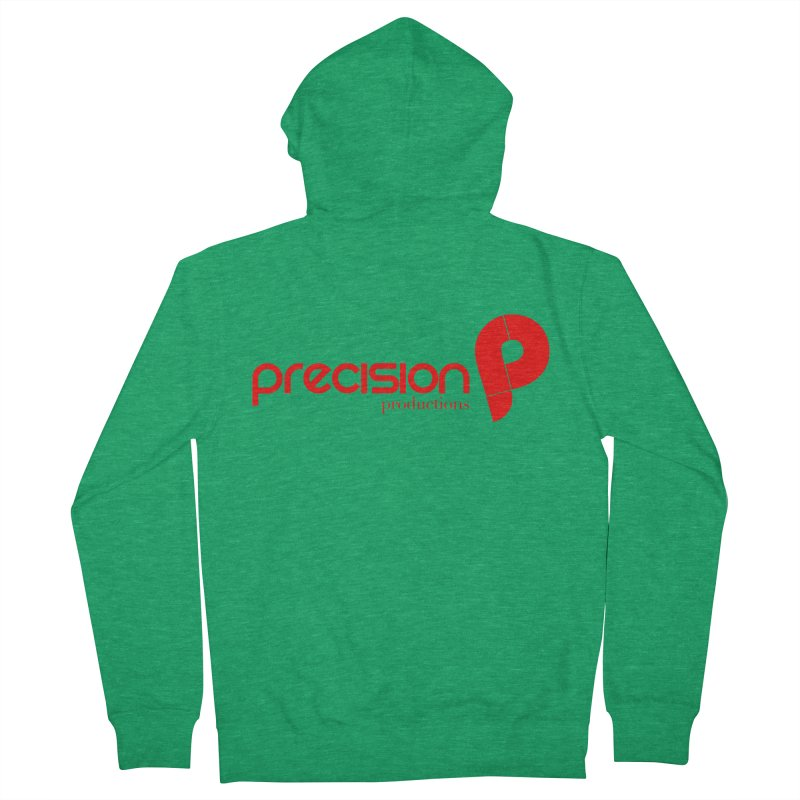 Precision Logo (Red) Men's Zip-Up Hoody by Precision Productions Artiste Shop