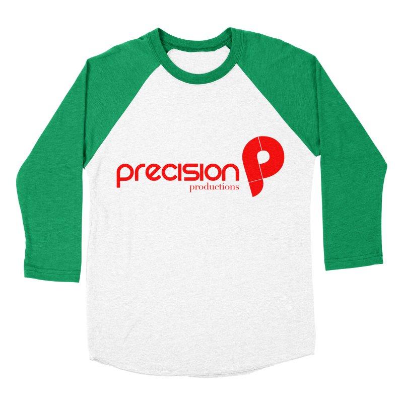 Precision Logo (Red) Women's Baseball Triblend Longsleeve T-Shirt by Precision Productions Artiste Shop