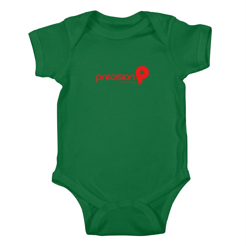 Precision Logo (Red) Kids Baby Bodysuit by Precision Productions Artiste Shop