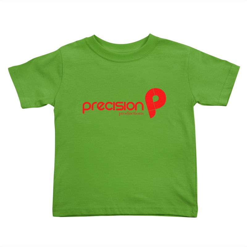 Precision Logo (Red) Kids Toddler T-Shirt by Precision Productions Artiste Shop