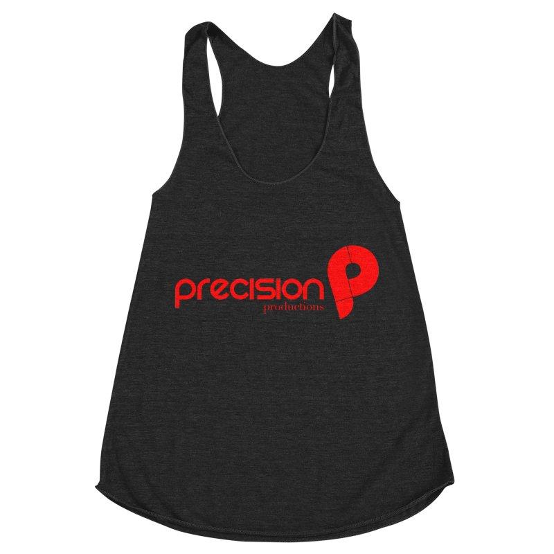 Precision Logo (Red) Women's Racerback Triblend Tank by Precision Productions Artiste Shop