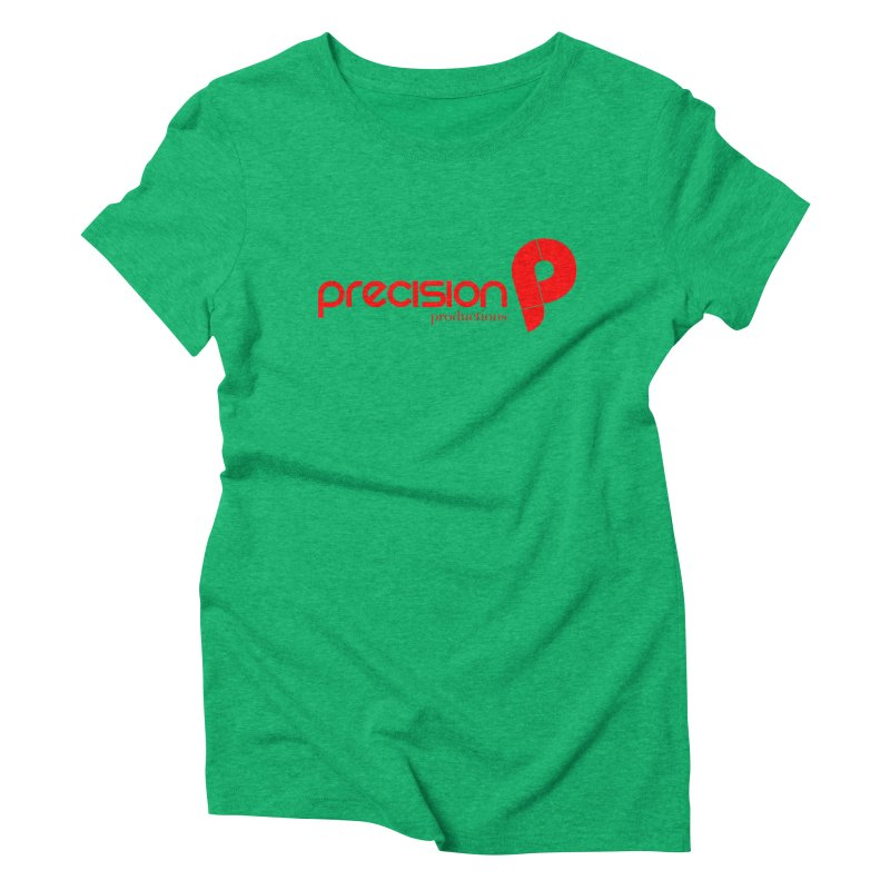 Precision Logo (Red) Women's Triblend T-Shirt by Precision Productions Artiste Shop