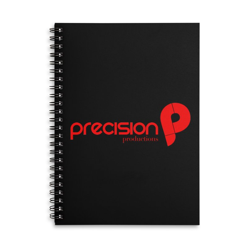 Precision Logo (Red) Accessories Lined Spiral Notebook by Precision Productions Artiste Shop