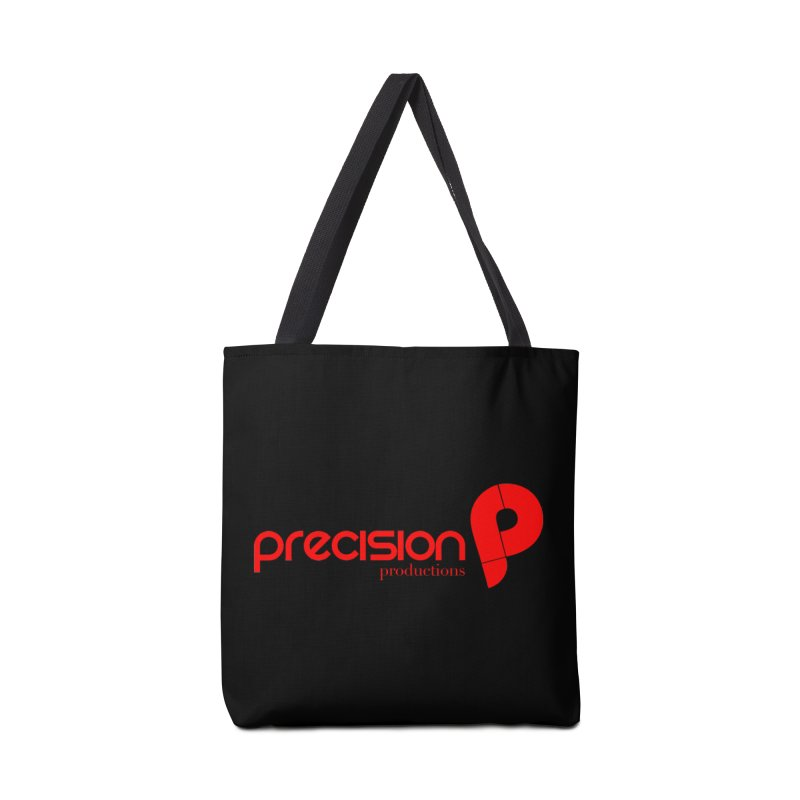 Precision Logo (Red) Accessories Tote Bag Bag by Precision Productions Artiste Shop