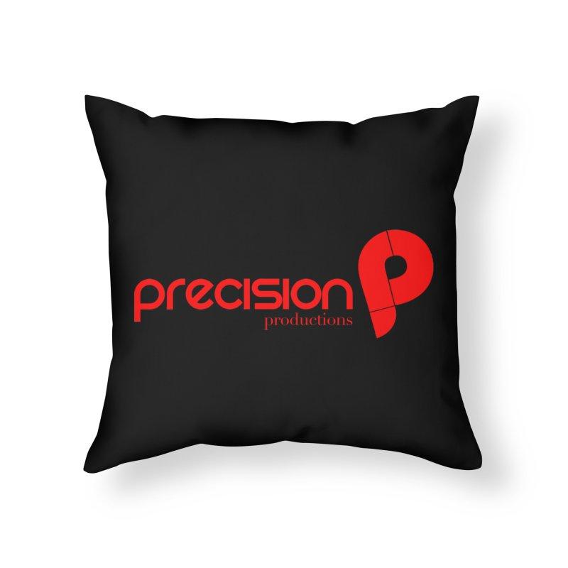 Precision Logo (Red) Home Throw Pillow by Precision Productions Artiste Shop
