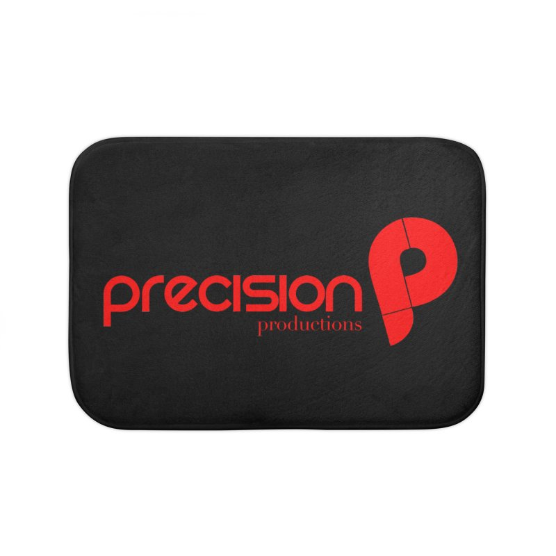 Precision Logo (Red) Home Bath Mat by Precision Productions Artiste Shop