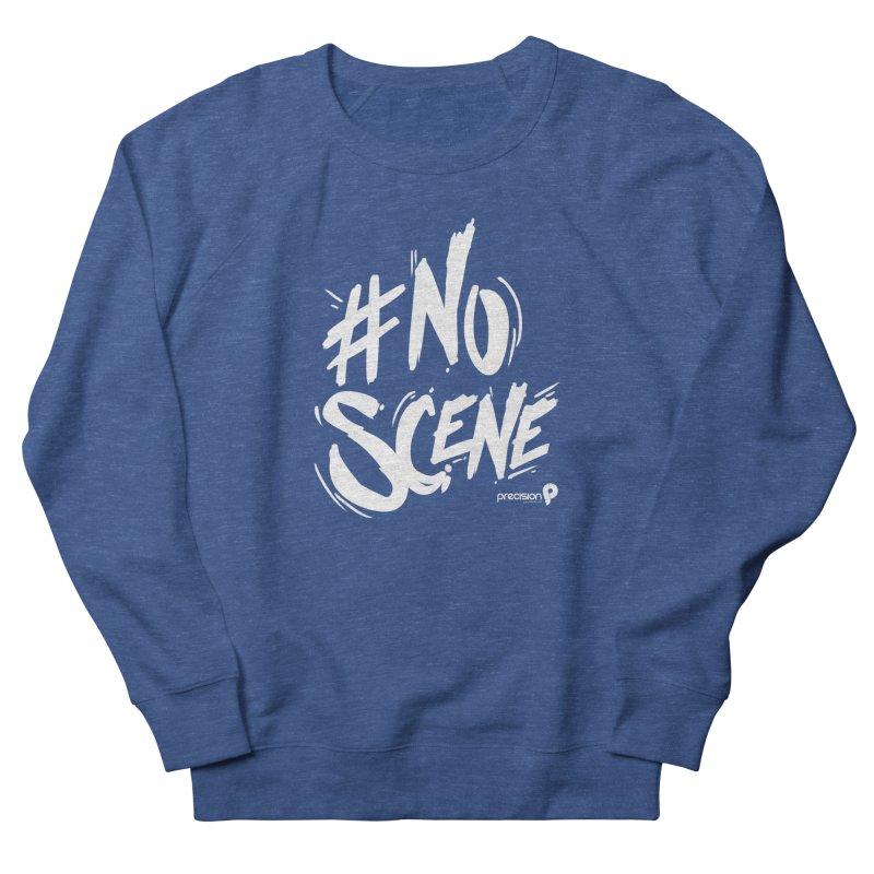 No Scene (White) Men's Sweatshirt by Precision Productions Artiste Shop