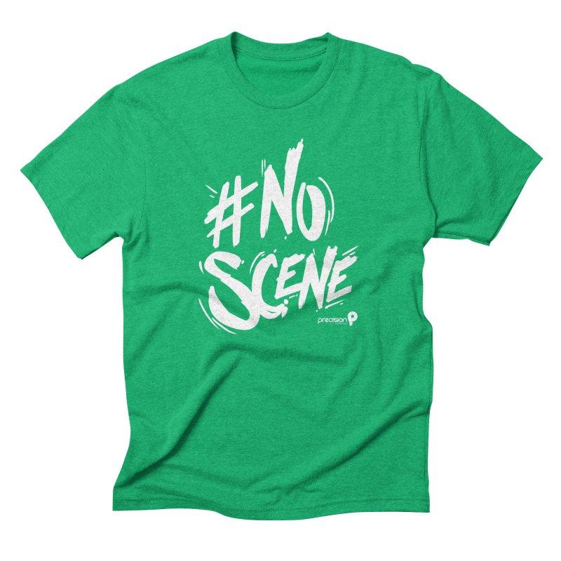 No Scene (White) Men's Triblend T-Shirt by Precision Productions Artiste Shop