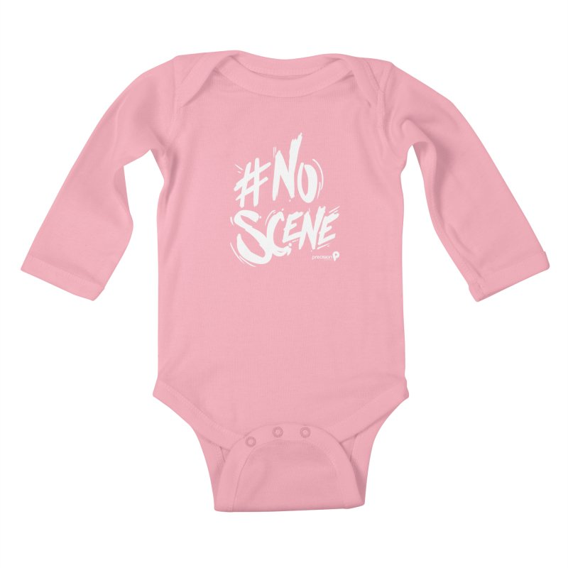 No Scene (White) Kids Baby Longsleeve Bodysuit by Precision Productions Artiste Shop
