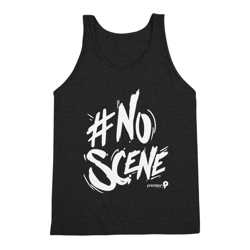 No Scene (White) Men's Tank by Precision Productions Artiste Shop