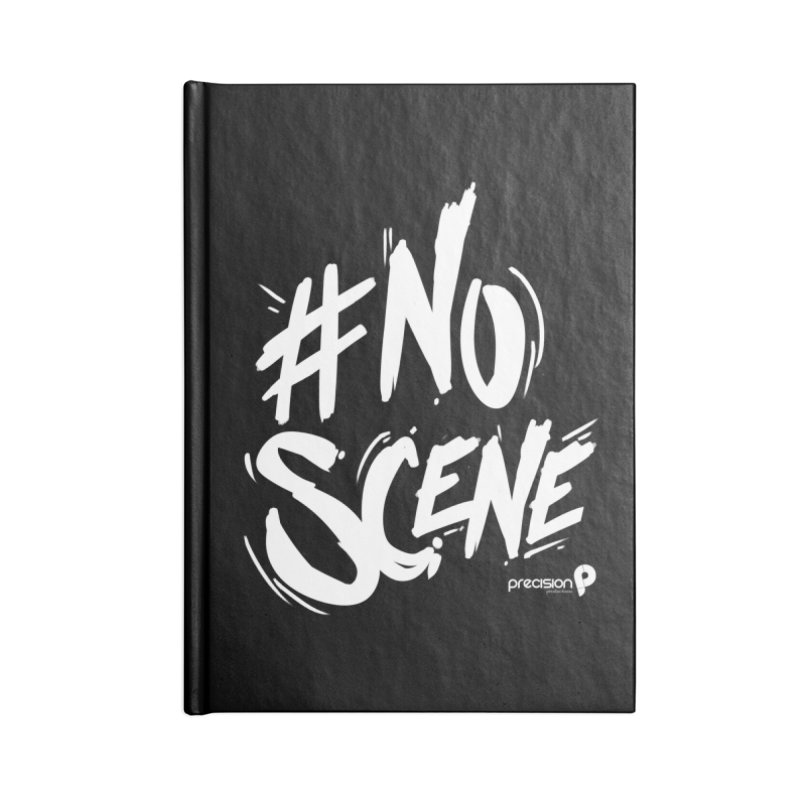 No Scene (White) Accessories Blank Journal Notebook by Precision Productions Artiste Shop