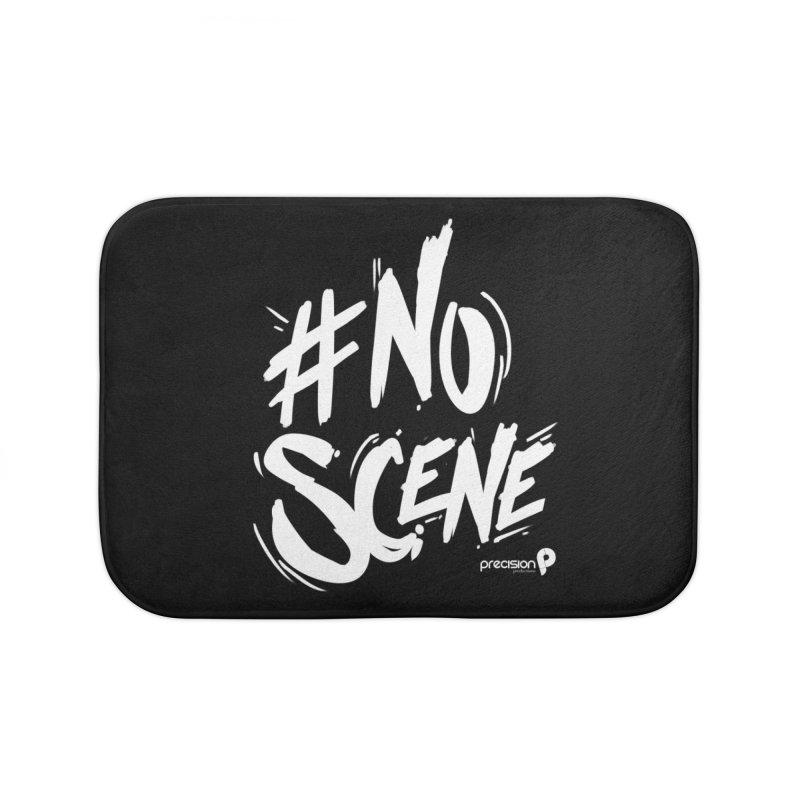 No Scene (White) Home Bath Mat by Precision Productions Artiste Shop