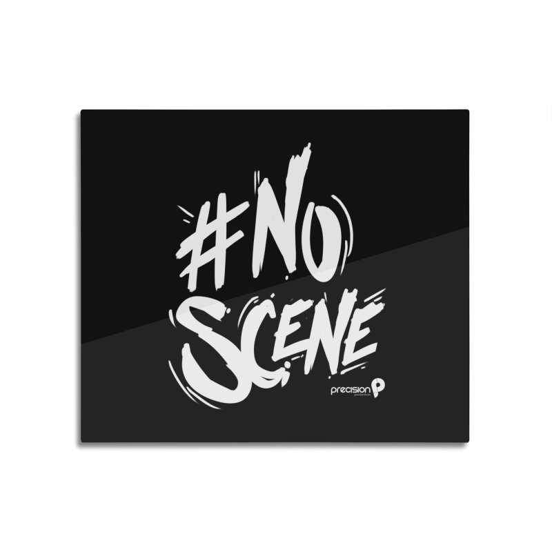 No Scene (White) Home Mounted Aluminum Print by Precision Productions Artiste Shop