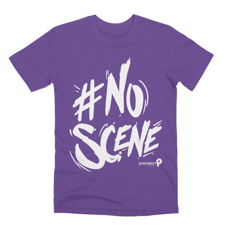 No Scene (White) Men's T-Shirt by Precision Productions Artiste Shop
