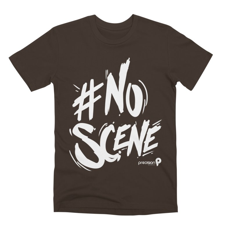 No Scene (White) Men's T-Shirt by Precision Productions Artiste Shop