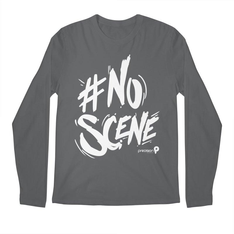 No Scene (White) Men's Longsleeve T-Shirt by Precision Productions Artiste Shop