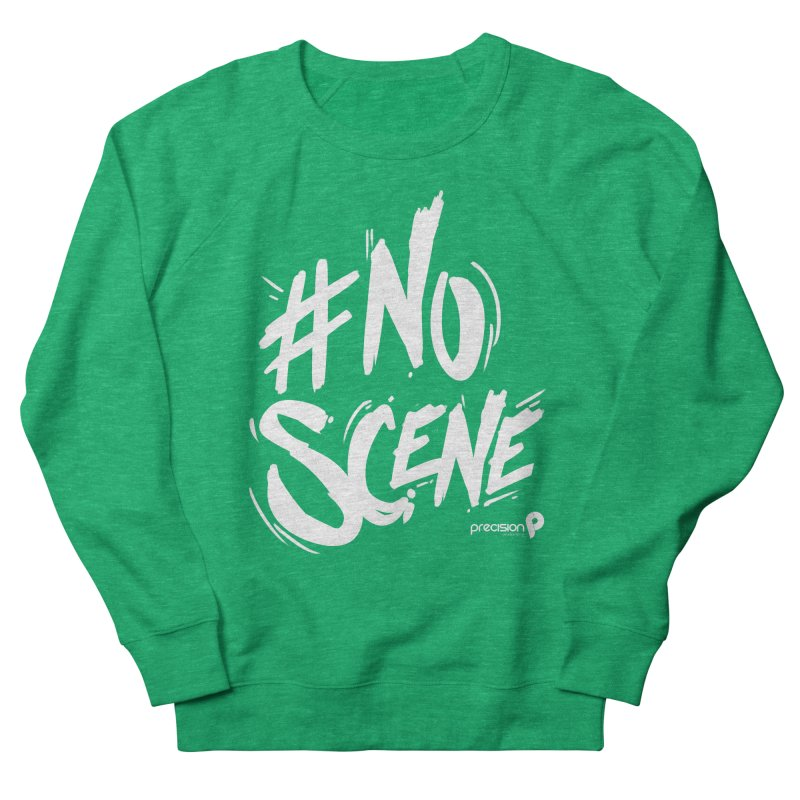No Scene (White) Women's Sweatshirt by Precision Productions Artiste Shop