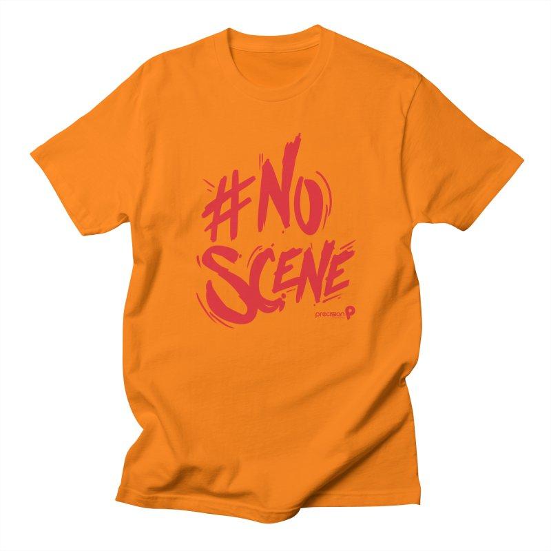 No Scene (Red) Men's T-Shirt by Precision Productions Artiste Shop