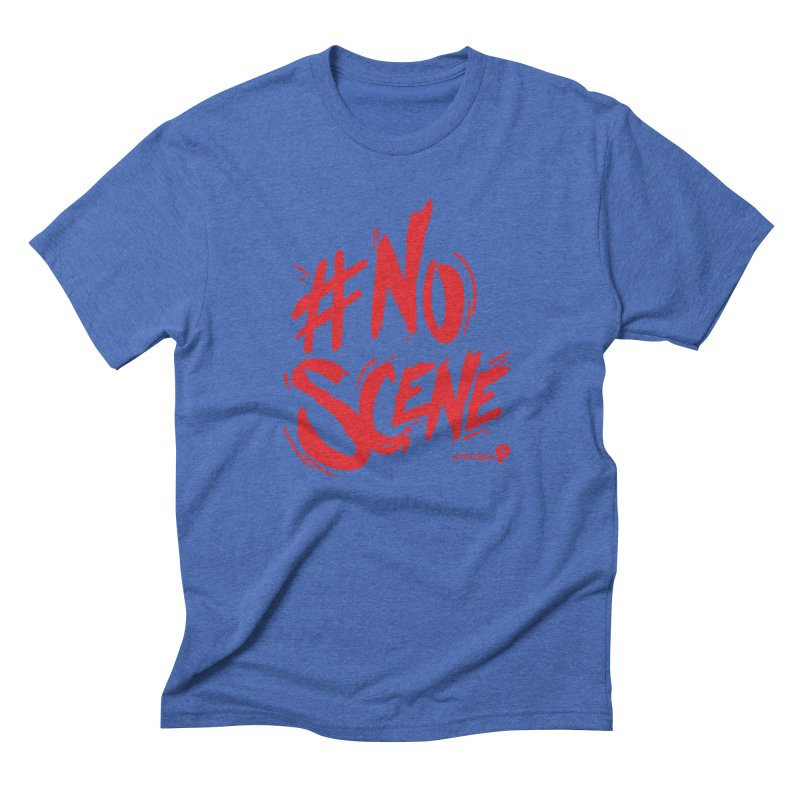 No Scene (Red) Men's Triblend T-Shirt by Precision Productions Artiste Shop