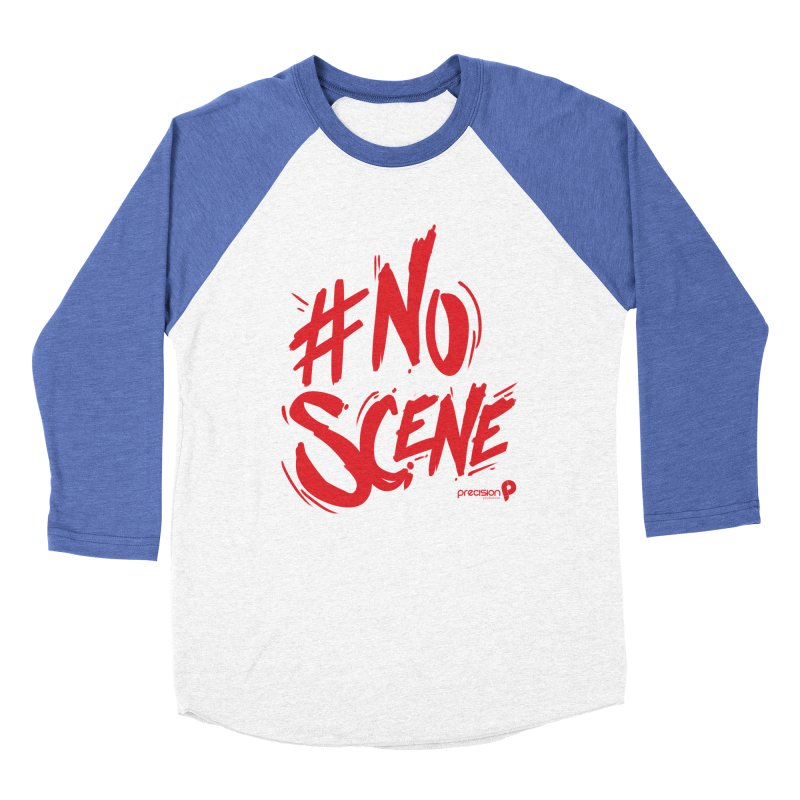 No Scene (Red) Women's Baseball Triblend Longsleeve T-Shirt by Precision Productions Artiste Shop