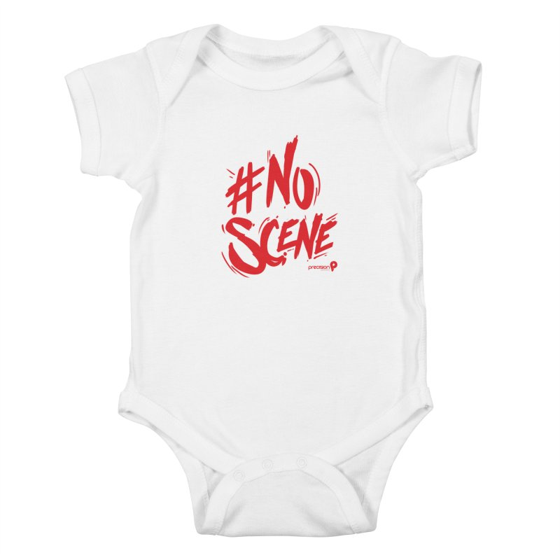 No Scene (Red) Kids Baby Bodysuit by Precision Productions Artiste Shop