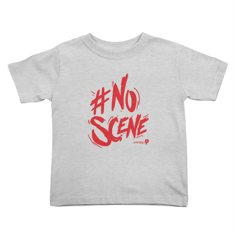 No Scene (Red) Kids Toddler T-Shirt by Precision Productions Artiste Shop