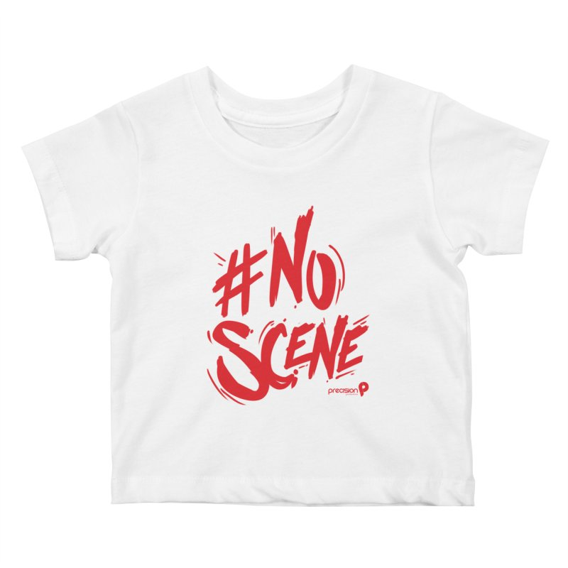No Scene (Red) Kids Baby T-Shirt by Precision Productions Artiste Shop