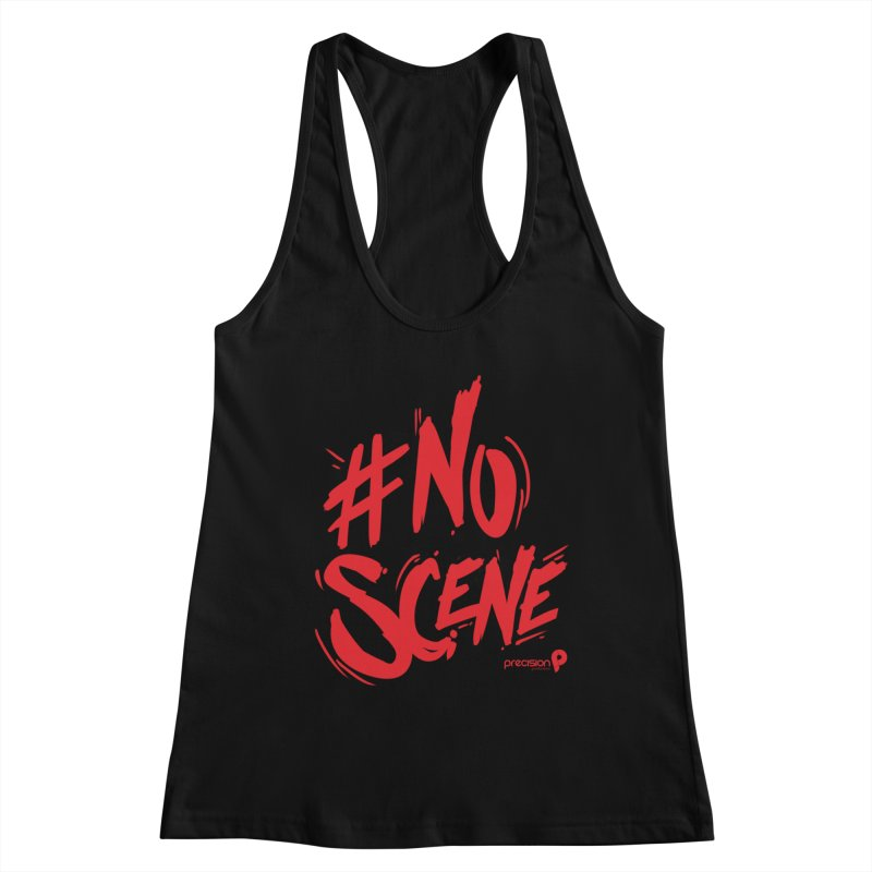 No Scene (Red) Women's Tank by Precision Productions Artiste Shop