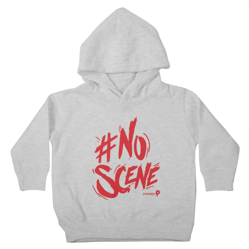 No Scene (Red) Kids Toddler Pullover Hoody by Precision Productions Artiste Shop