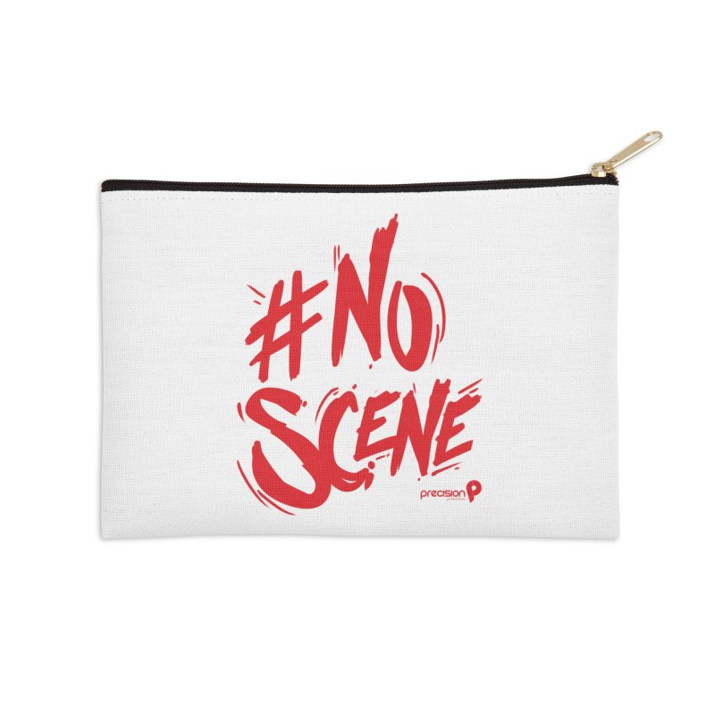 No Scene (Red) Accessories Zip Pouch by Precision Productions Artiste Shop