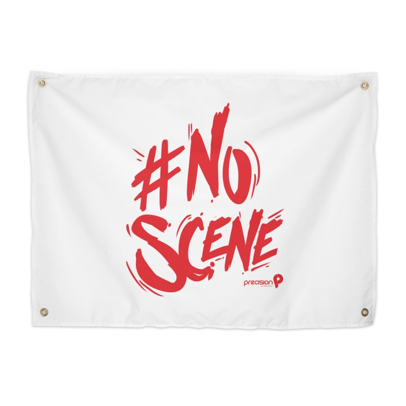 No Scene (Red) Home Tapestry by Precision Productions Artiste Shop